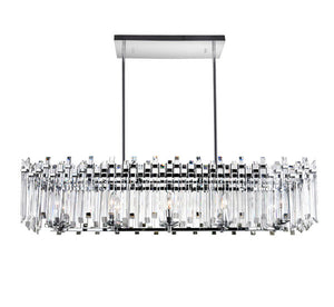 10 LIGHT CHANDELIER WITH CHROME FINISH - Dream art Gallery