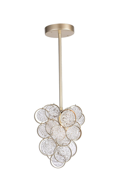 1 LIGHT PENDANT WITH GOLD LEAF FINISH - Dreamart Gallery