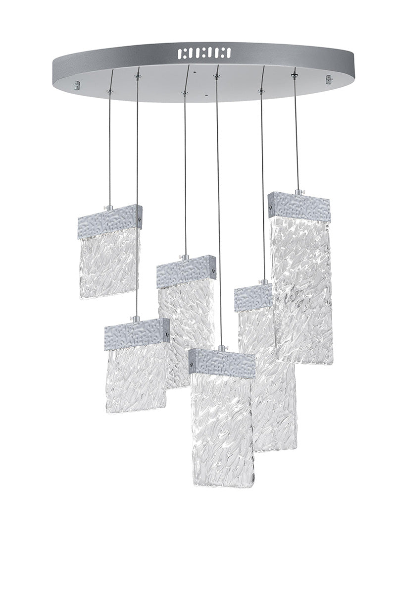 LED CHANDELIER WITH PEWTER FINISH - Dream art Gallery