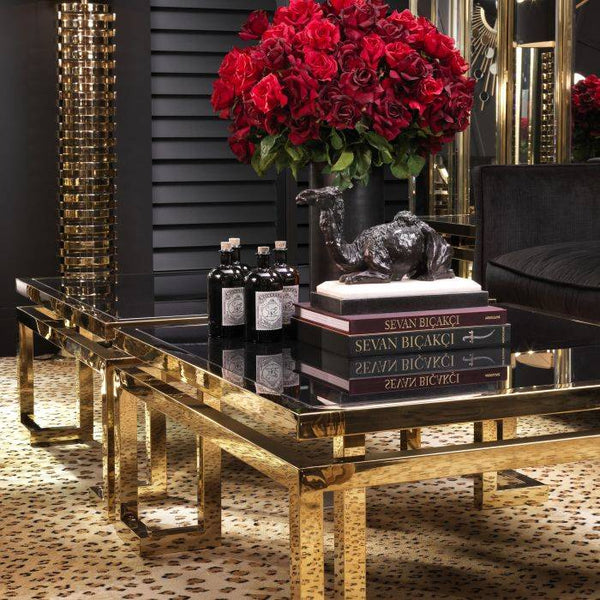 CT20-48 gold square Coffe table - Dreamart Gallery