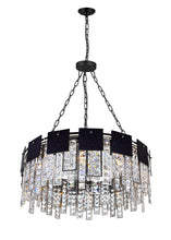 Load image into Gallery viewer, 10 LIGHT DOWN CHANDELIER WITH POLISHED NICKEL FINISH - Dream art Gallery