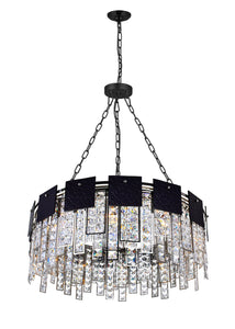 10 LIGHT DOWN CHANDELIER WITH POLISHED NICKEL FINISH - Dream art Gallery