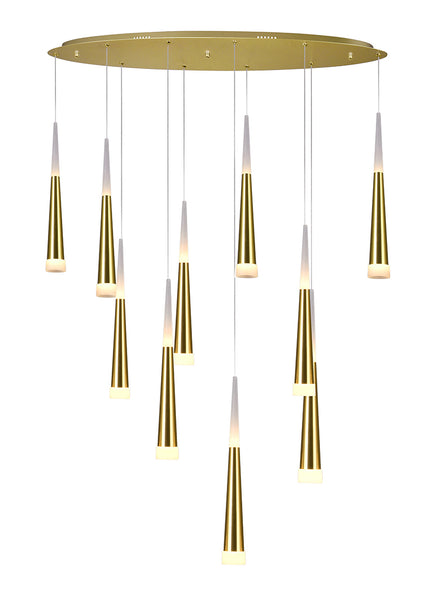 LED MULTI LIGHT PENDANT WITH GOLD LEAF FINISH - Dream art Gallery
