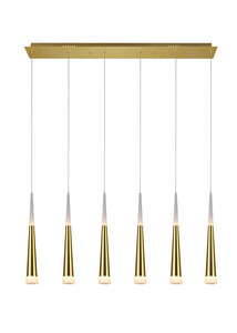 LED POOL TABLE LIGHT WITH GOLD LEAF FINISH - Dream art Gallery