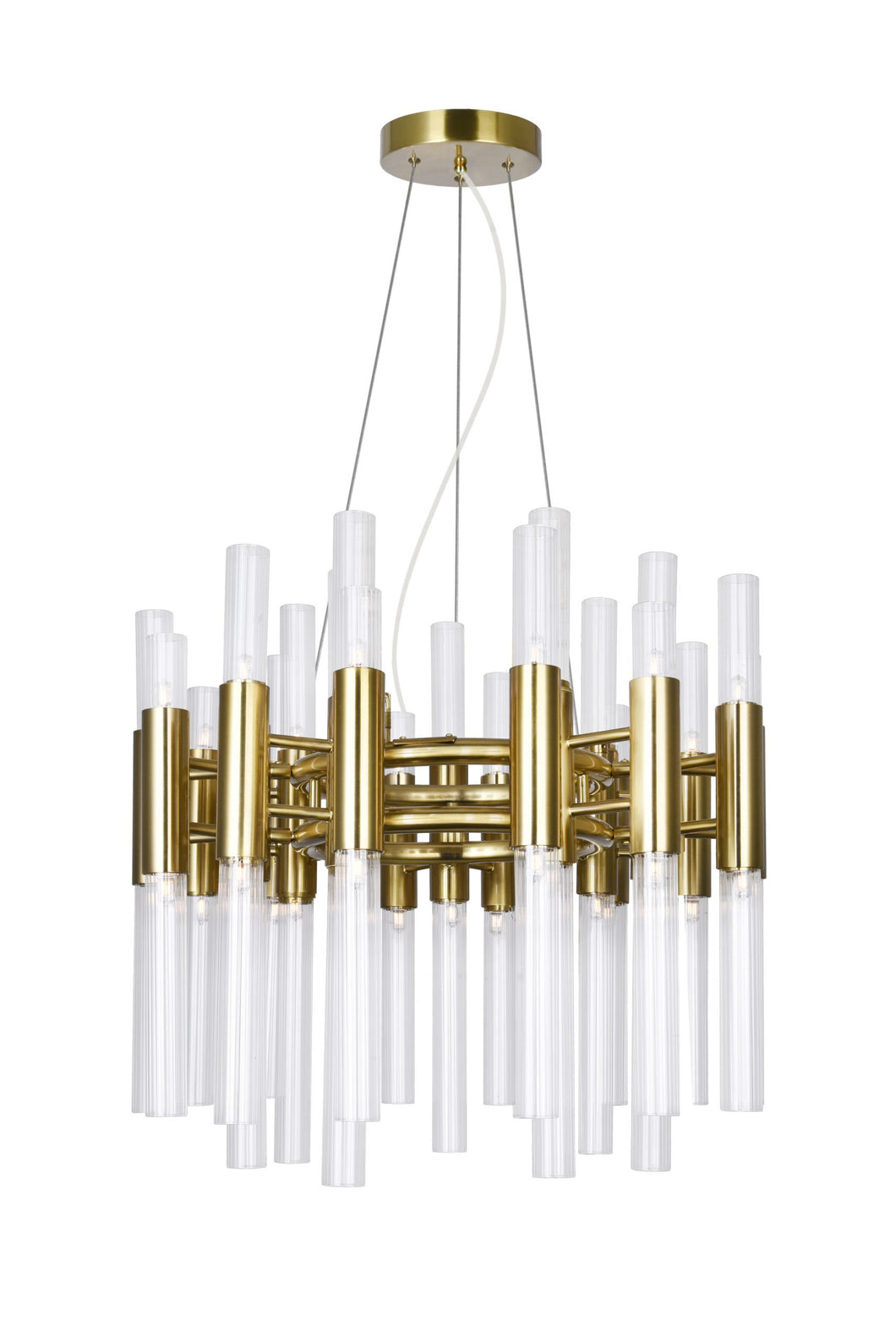 42 LIGHT CHANDELIER WITH BRASS FINISH - Dream art Gallery