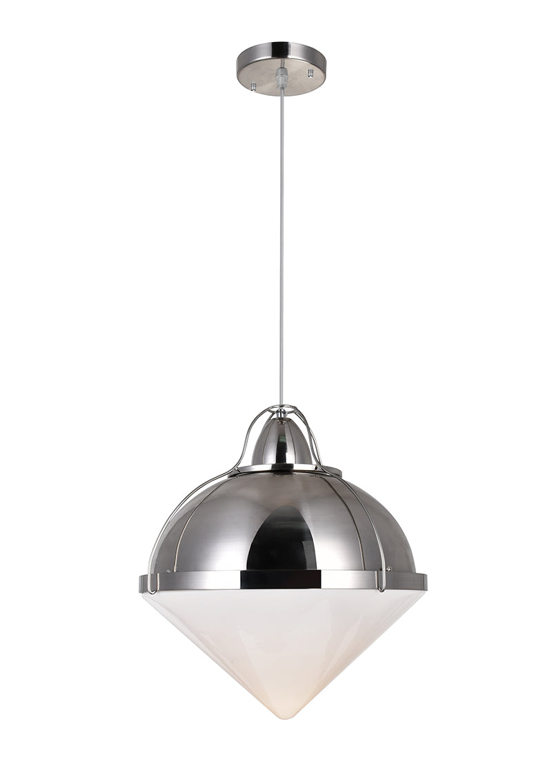 1 LIGHT DOWN PENDANT WITH POLISHED NICKEL FINISH - Dreamart Gallery