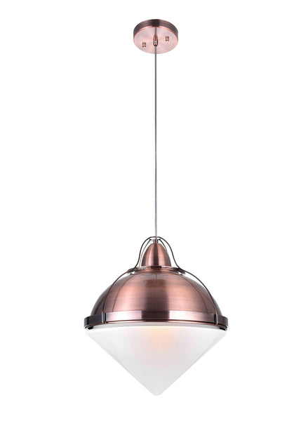 1 LIGHT DOWN PENDANT WITH COPPER FINISH