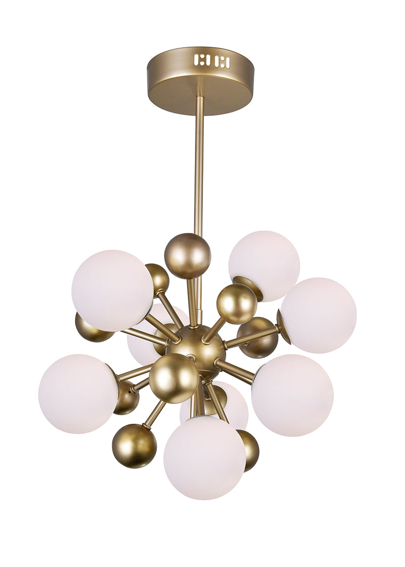 8 LIGHT CHANDELIER WITH SUN GOLD FINISH - Dream art Gallery