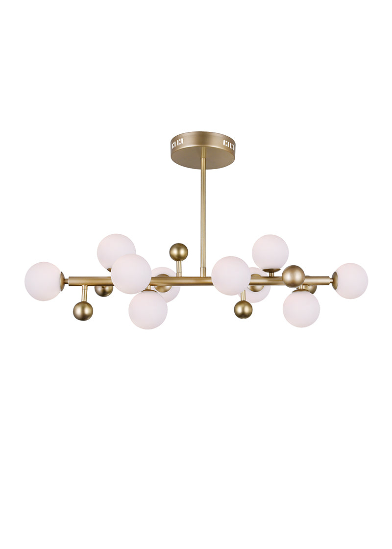 10 LIGHT CHANDELIER WITH SUN GOLD FINISH - Dream art Gallery