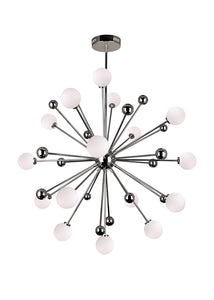 17 LIGHT CHANDELIER WITH POLISHED NICKEL FINISH - Dream art Gallery