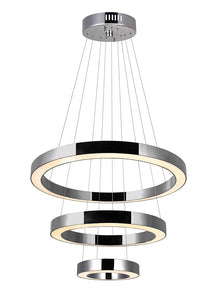 LED CHANDELIER WITH POLISHED NICKEL FINISH - Dream art Gallery