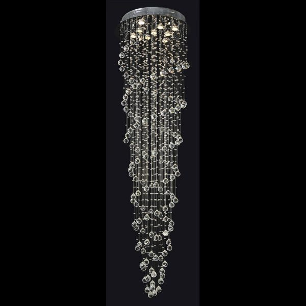 9 light double spiral crystal chandelier (GU10)