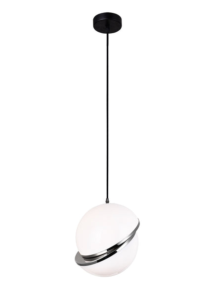 1 LIGHT PENDANT WITH POLISHED NICKEL FINISH - Dreamart Gallery