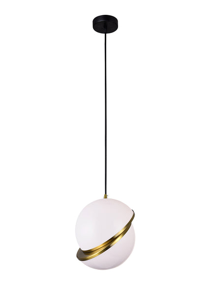 1 LIGHT PENDANT WITH BRASS FINISH - Dreamart Gallery