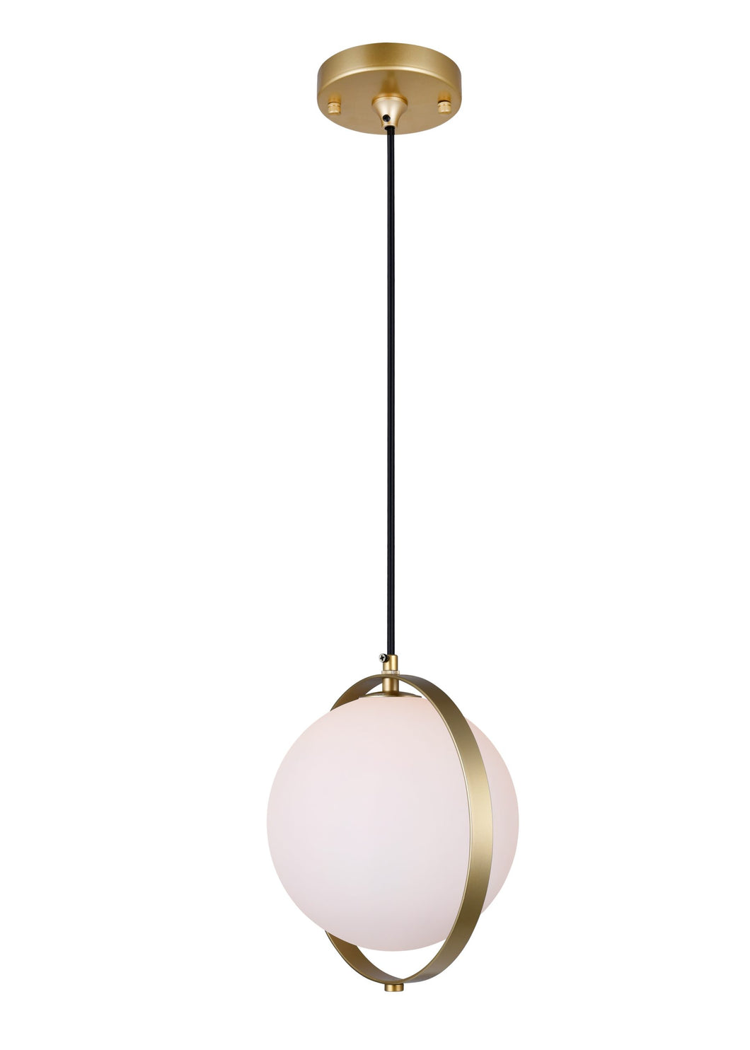 1 LIGHT MINI PENDANT WITH BRASS FINISH - Dream art Gallery