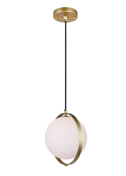 1 LIGHT MINI PENDANT WITH BRASS FINISH - Dreamart Gallery