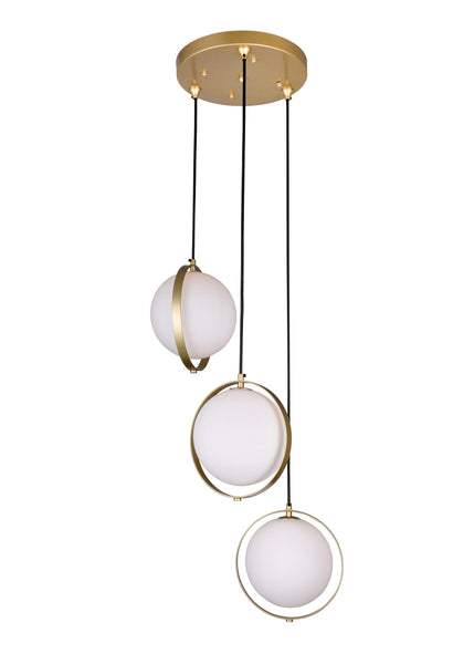 3 LIGHT MULTI LIGHT PENDANT WITH BRASS FINISH - Dream art Gallery