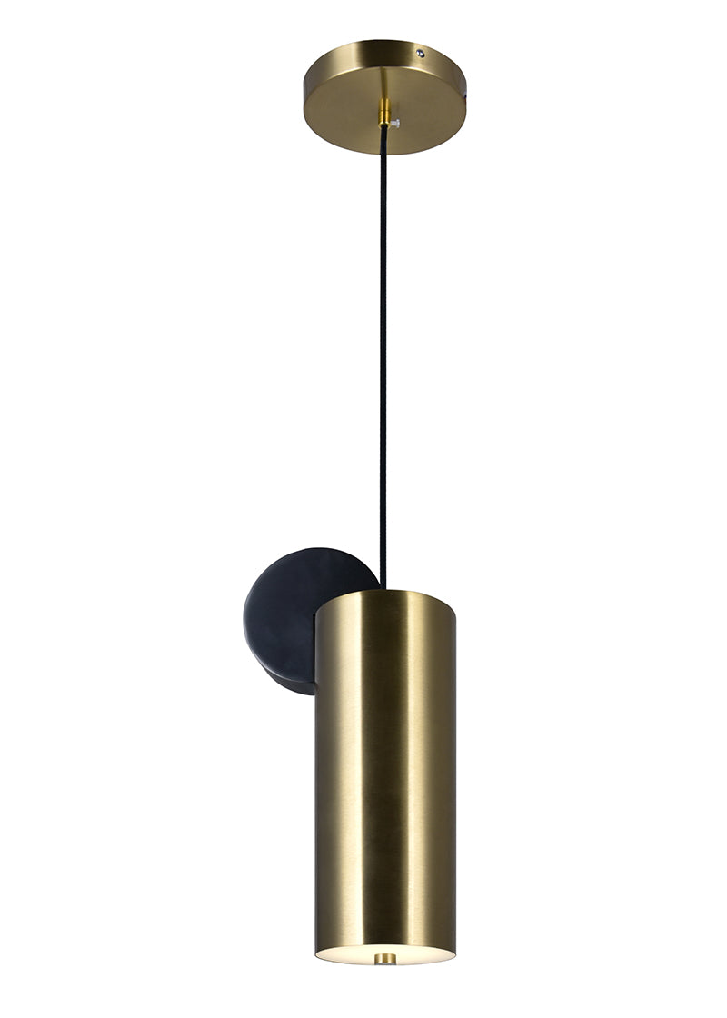 LED MINI PENDANT WITH BRASS+BLACK FINISH - Dreamart Gallery