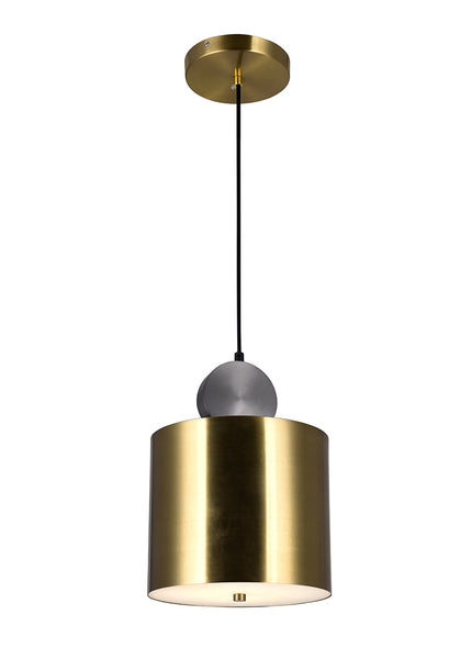 LED MINI PENDANT WITH BRASS+BLACK FINISH - Dream art Gallery
