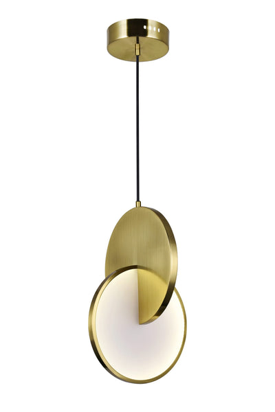 LED MINI PENDANT WITH BRUSHED BRASS FINISH - Dream art Gallery
