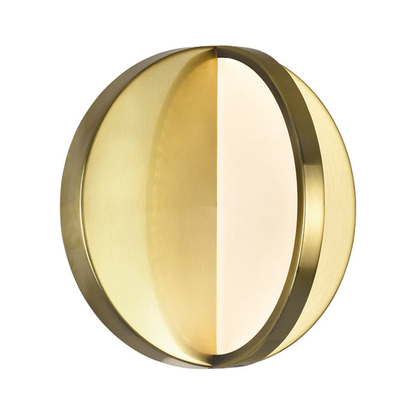 LED SCONCE WITH BRUSHED BRASS FINISH