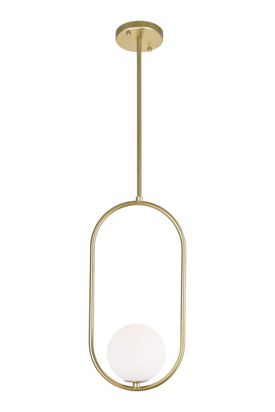 1 LIGHT MINI PENDANT WITH MEDALLION GOLD FINISH - Dreamart Gallery