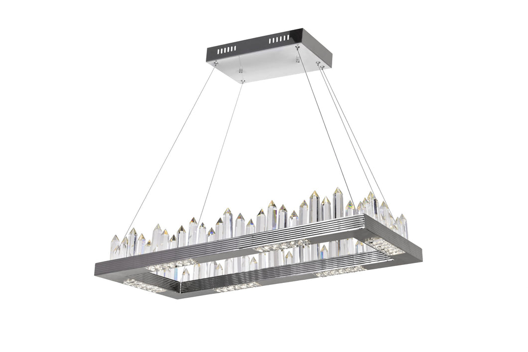 LED ISLAND/POOL TABLE CHANDELIER WITH POLISHED NICKEL FINISH - Dream art Gallery