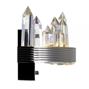 LED SCONCE WITH POLISHED NICKEL FINISH - Dreamart Gallery