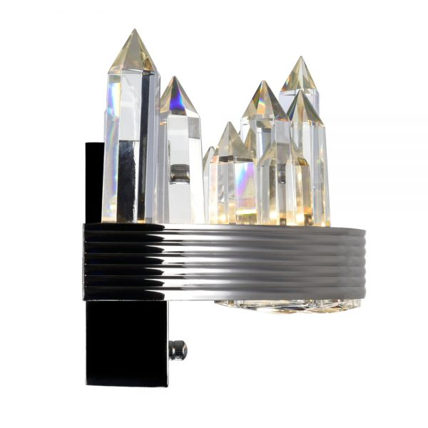 LED SCONCE WITH POLISHED NICKEL FINISH - Dream art Gallery