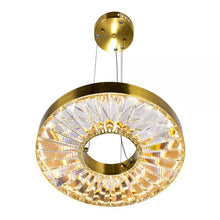 Load image into Gallery viewer, LED CHANDELIER WITH BRASS FINISH - Dream art Gallery