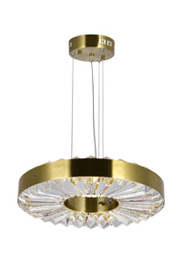 LED CHANDELIER WITH BRASS FINISH - Dream art Gallery