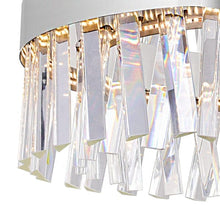 Load image into Gallery viewer, LED CHANDELIER WITH CHROME FINISH AND CLEAR CRYSTALS - Dreamart Gallery