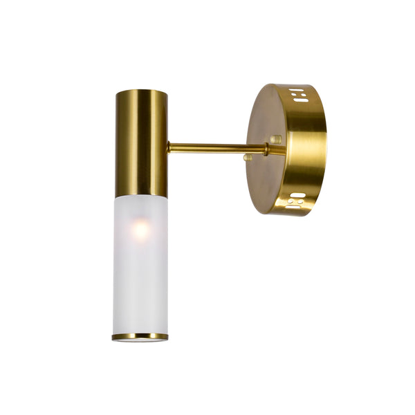 1 LIGHT SCONCE WITH BRASS FINISH