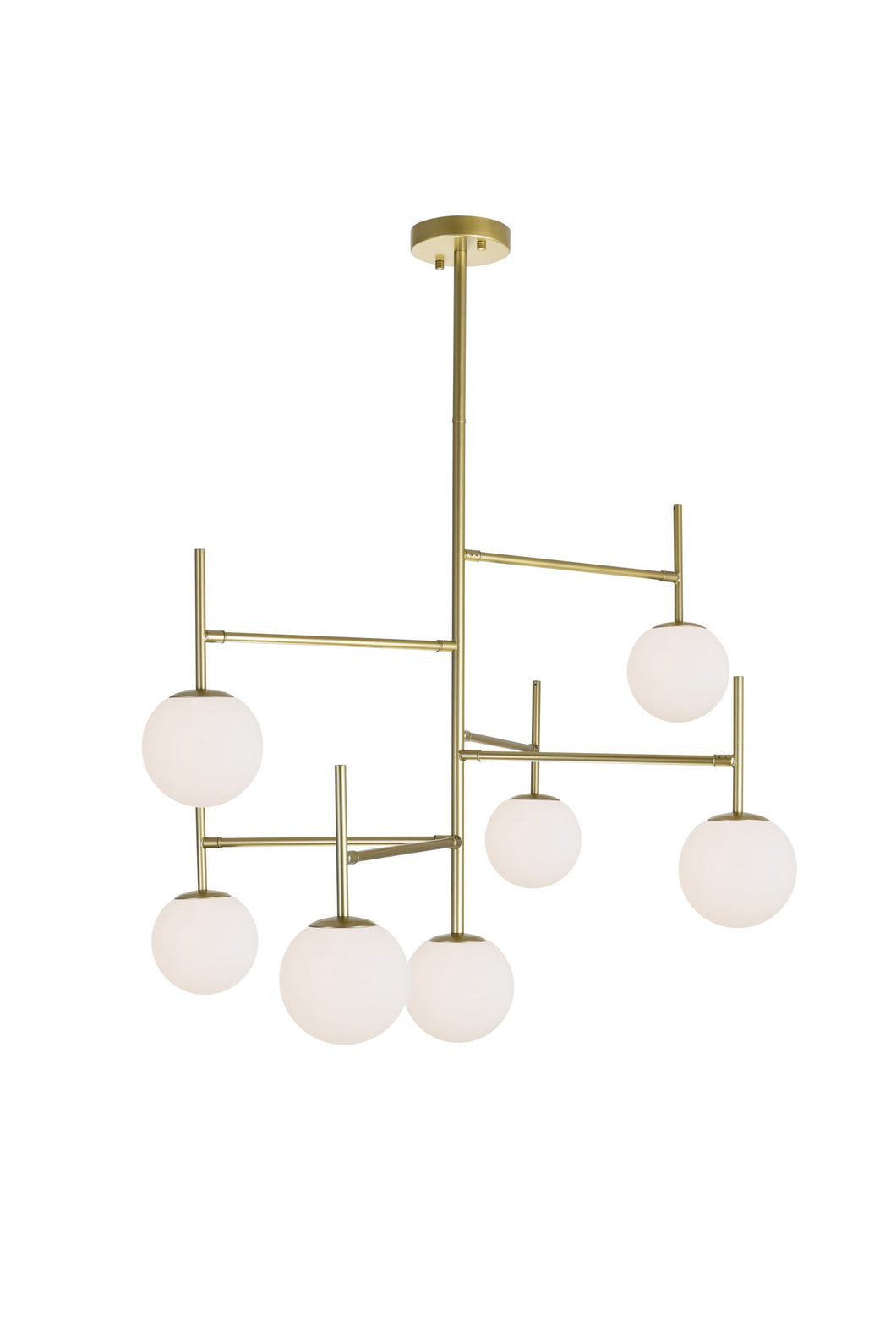 7 LIGHT CHANDELIER WITH MEDALLION GOLD FINISH - Dream art Gallery
