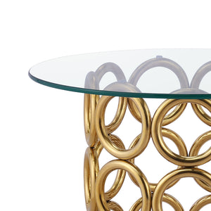 Monte Carlo Gold Side Table - Dreamart Gallery