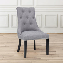 Load image into Gallery viewer, Rimzy Slate Fabric Dining Chair - Dreamart Gallery