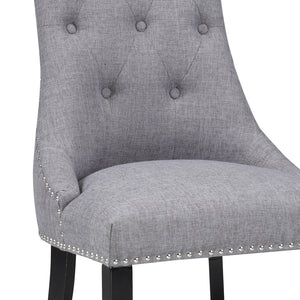 Rimzy Slate Fabric Dining Chair - Dreamart Gallery