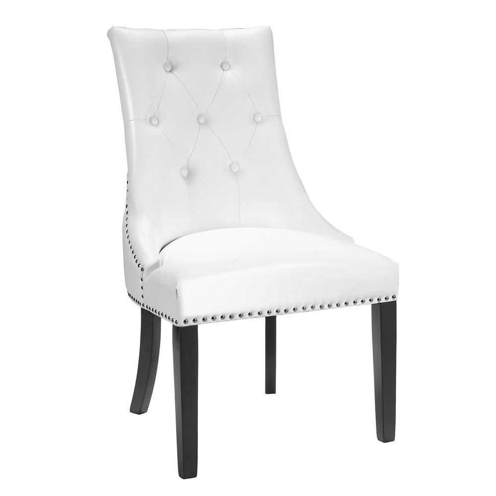 Rimzy White Leatherette Chair - Dreamart Gallery