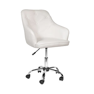 Omni Office Chair: Cream Leatherette - Dream art Gallery