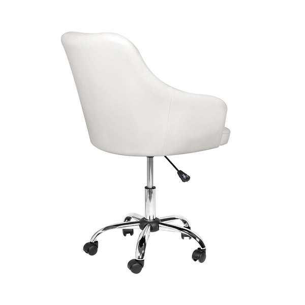 Omni Office Chair: Cream Leatherette - Dreamart Gallery