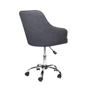 Omni Office Chair: Grey Linen Fabric - Dream art Gallery