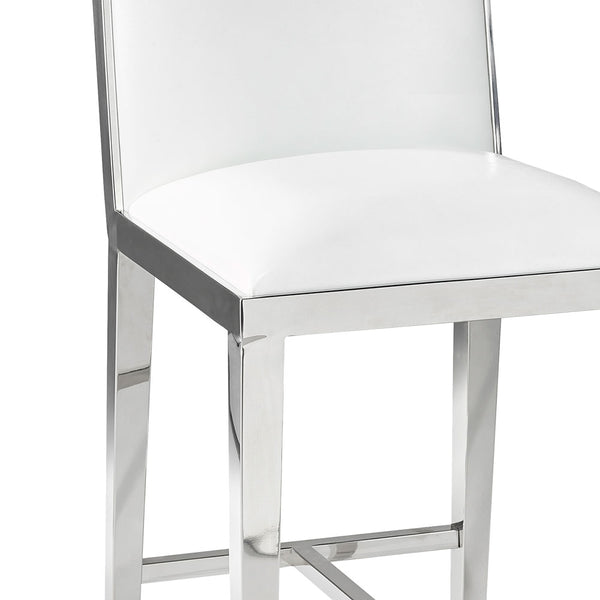 Emario White Leatherette Bar Chair - Dream art Gallery