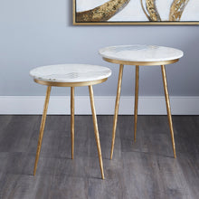 Load image into Gallery viewer, Belvin End Tables: White Marble - Dream art Gallery
