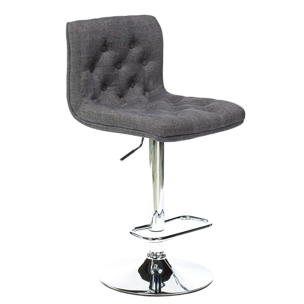 Daniel Grey Fabric Adjustable Stool