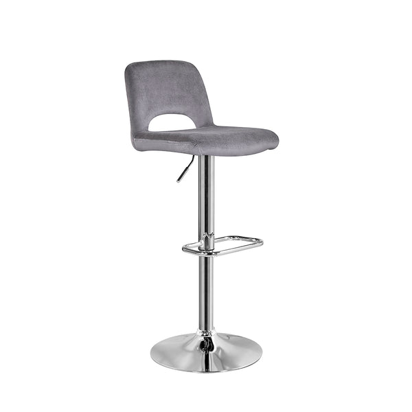 Napa Bar Stool: Dark Grey Velvet - Dream art Gallery