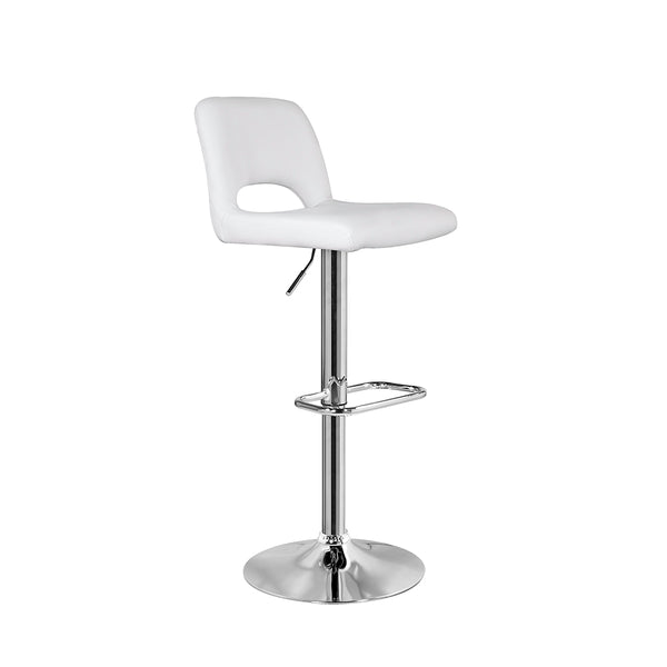 Napa Bar Stool: White Leatherette