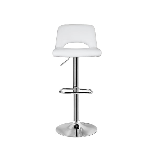 Napa Bar Stool: White Leatherette - Dream art Gallery