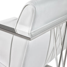 Load image into Gallery viewer, Fairmont Chair: White Leatherette - Dream art Gallery