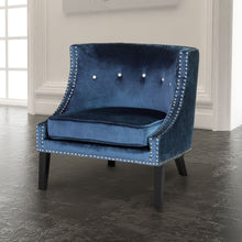 Load image into Gallery viewer, Lucy Blue Velvet Chair - Dream art Gallery