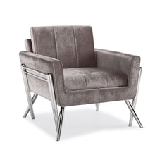 Load image into Gallery viewer, Morgan Grey Velvet Chair - Dreamart Gallery